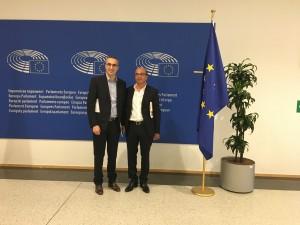 Pr Kerzazi et Bami au Parlement Européen